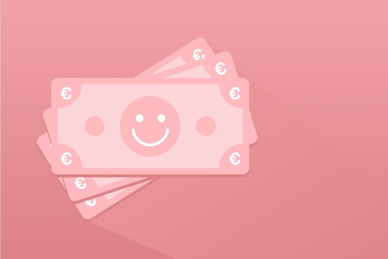 Geldschein mit Smiley