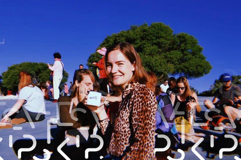 Lara während einem Praktikum in Südafrika