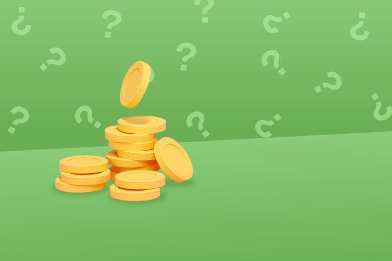 Finanzfragen und Münzen