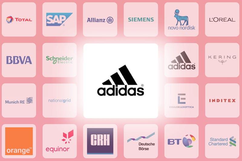 Logo der Adidas-Aktie