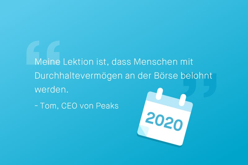 Zitat Tom Arends, CEO von Peaks