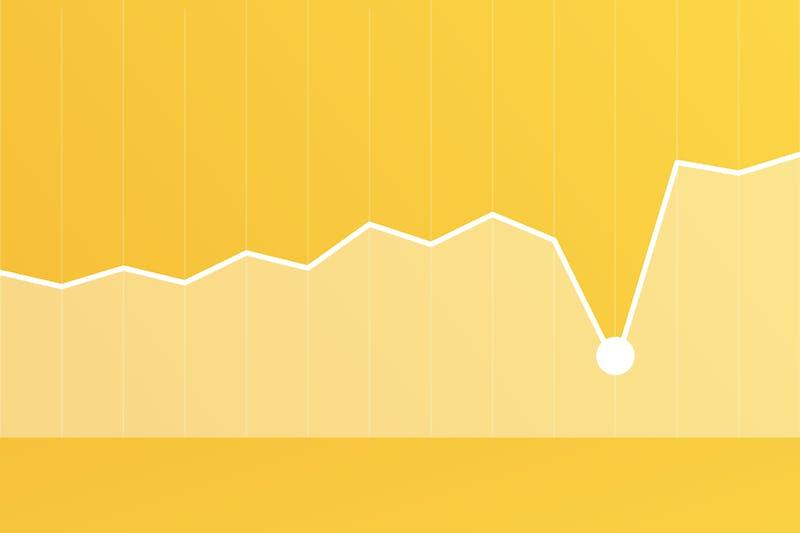 fallende Aktienkurse Grafik