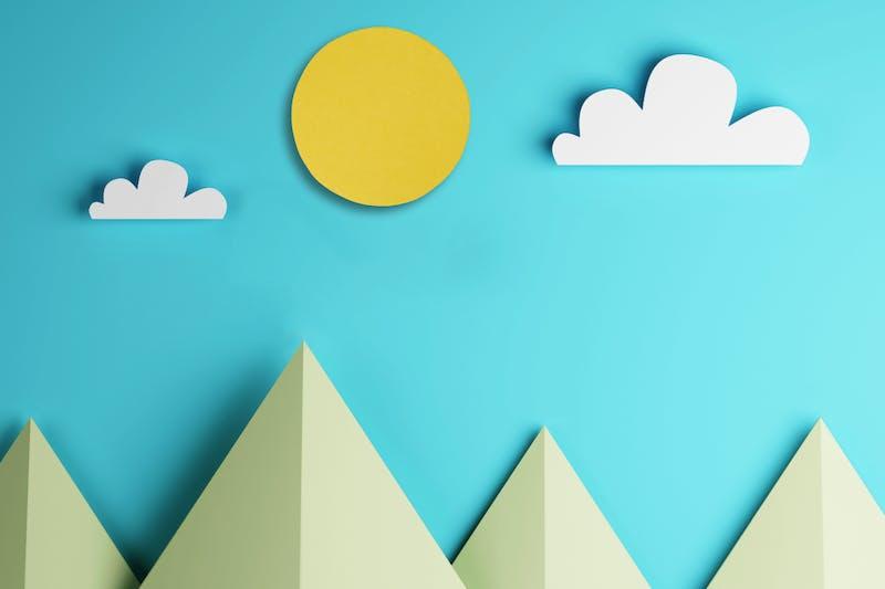 bergen van papier