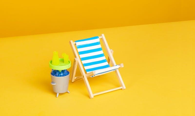 Liegestuhl für den Sommer