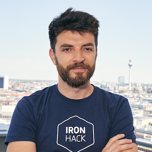 Ironhack UX/UI design instructor Milan Vukelić
