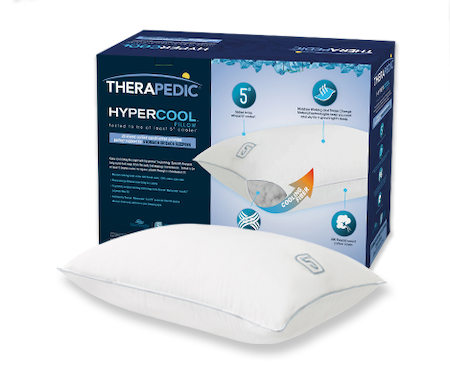Therapedic® Hypercool™ 5-Degree Pillow Collection In White
