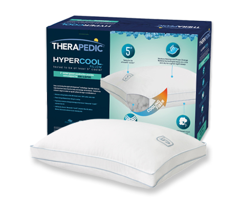 Therapedic® Hypercool™ 5-Degree Side Pillow In White