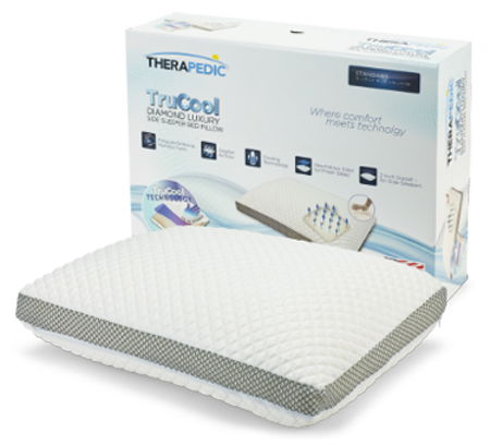 Therapedic® TruCool® Side Sleeper Memory Foam Bed Pillow