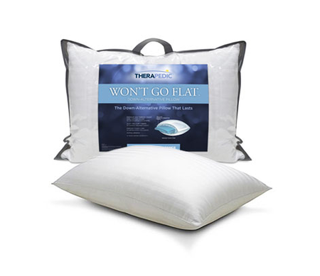 Therapedic® Won't Go Flat® Back Sleeper Pillow