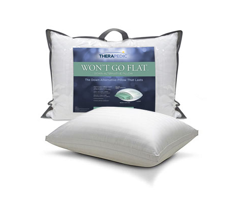 Therapedic® Won't Go Flat® Side Sleeper Pillow