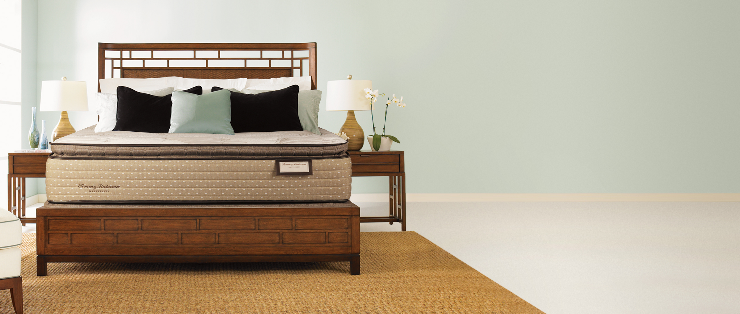 Tommy Bahama mattress in a bedroom setting