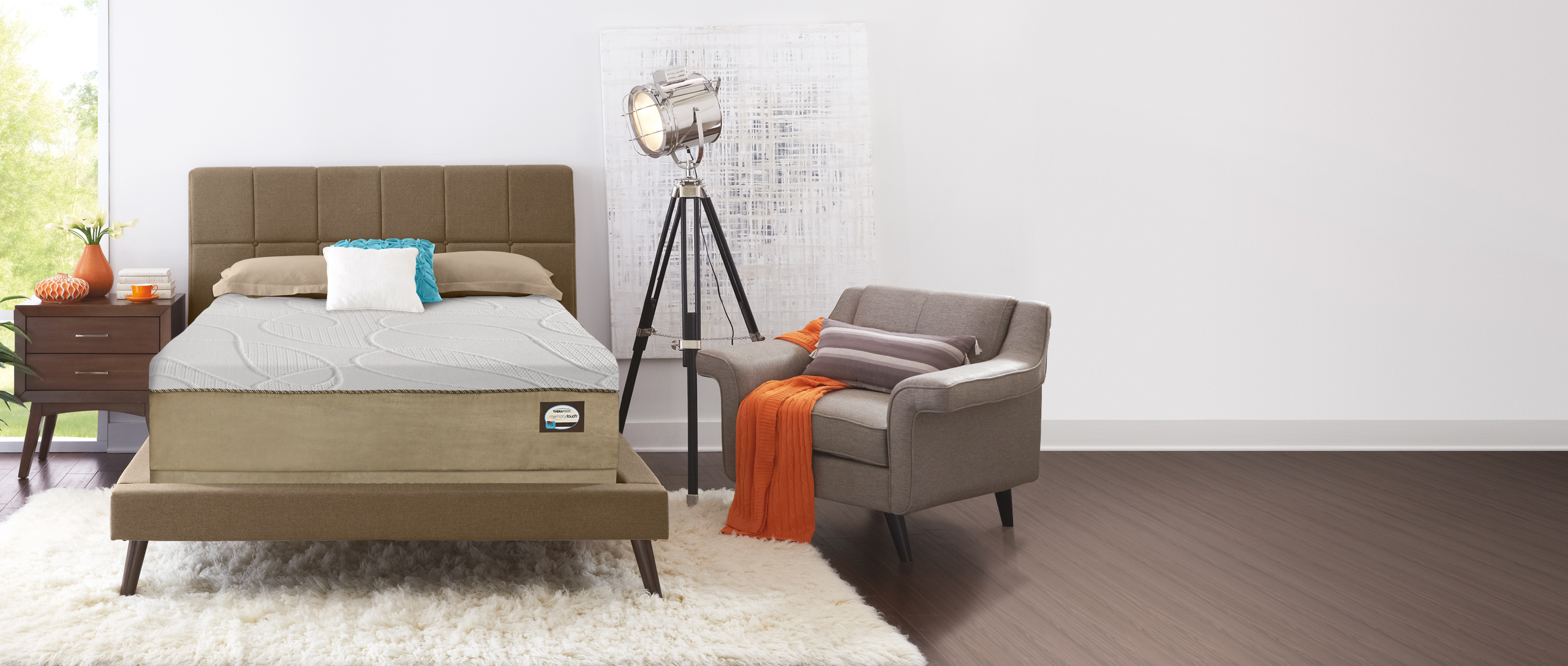Specialty MemoryTouch Mattress in a bedroom setting