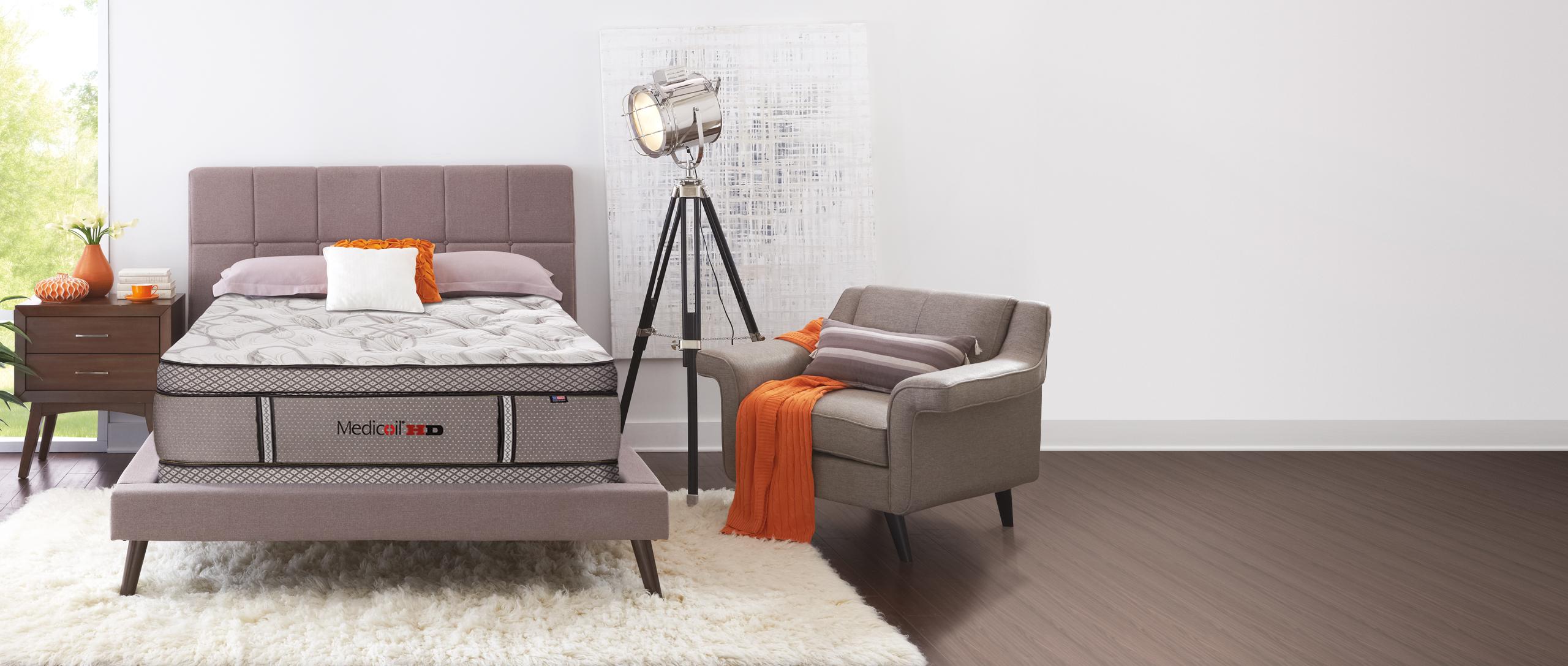 Medicoil HD - Heavy-Duty Mattress in a bedroom setting