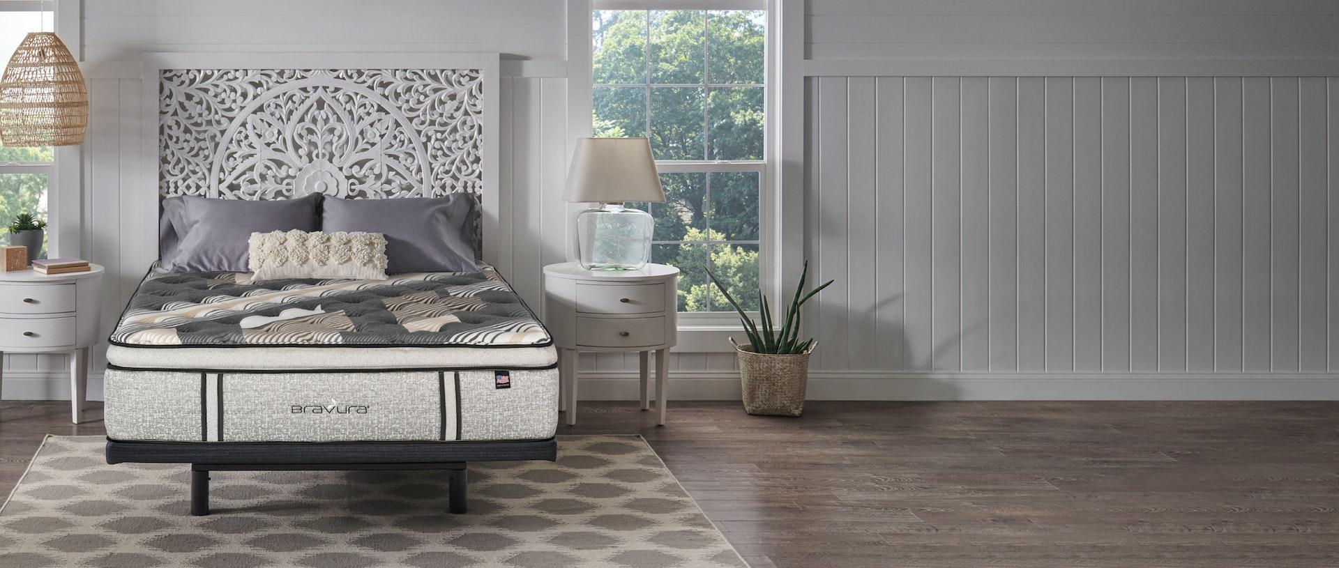 Bravura 2021 Mattress in a bedroom setting