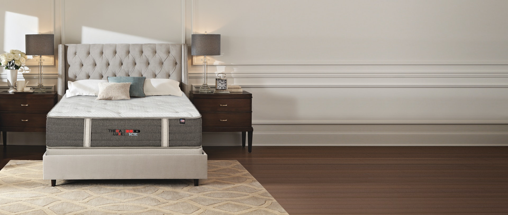TheraLuxe HD ICE Mattress in a bedroom setting