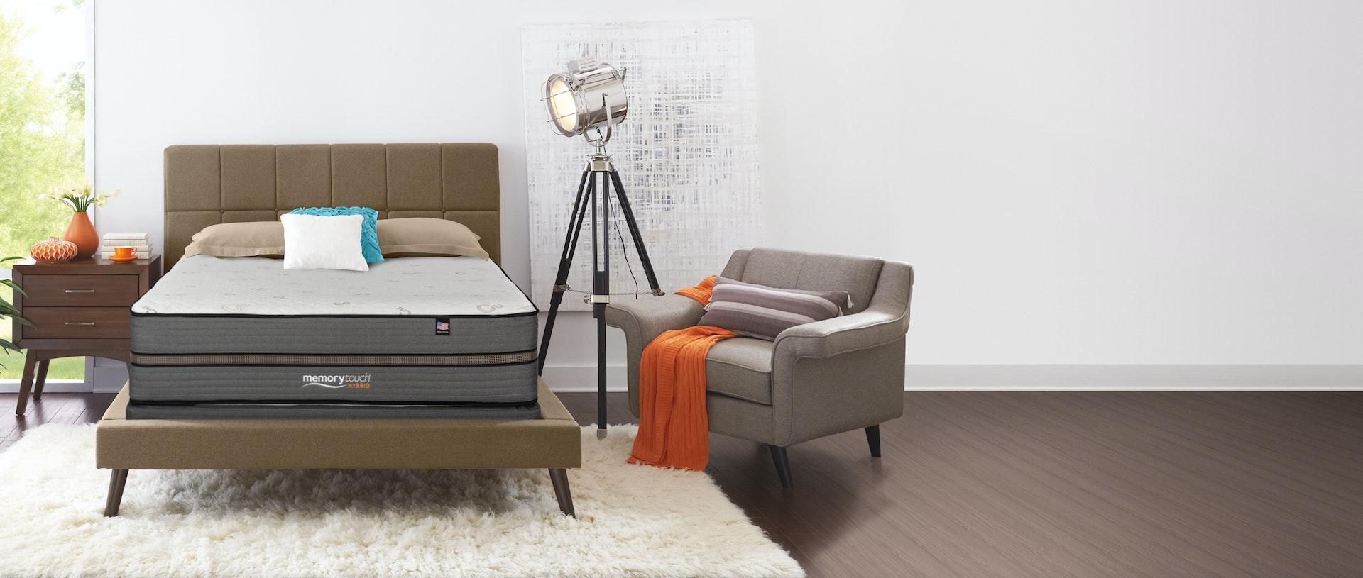 MemoryTouch Hybrid Mattress in a bedroom setting