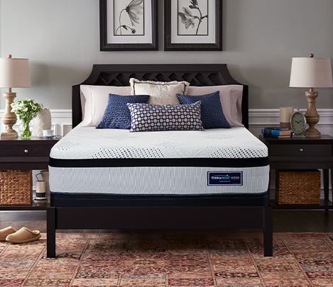 image of one of our Therapedic® Hybrid mattresses