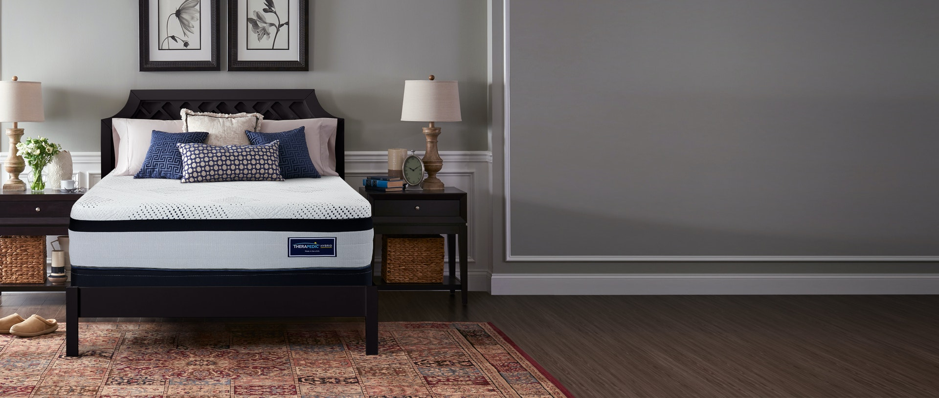 Therapedic Hybrid Mattress in a bedroom setting