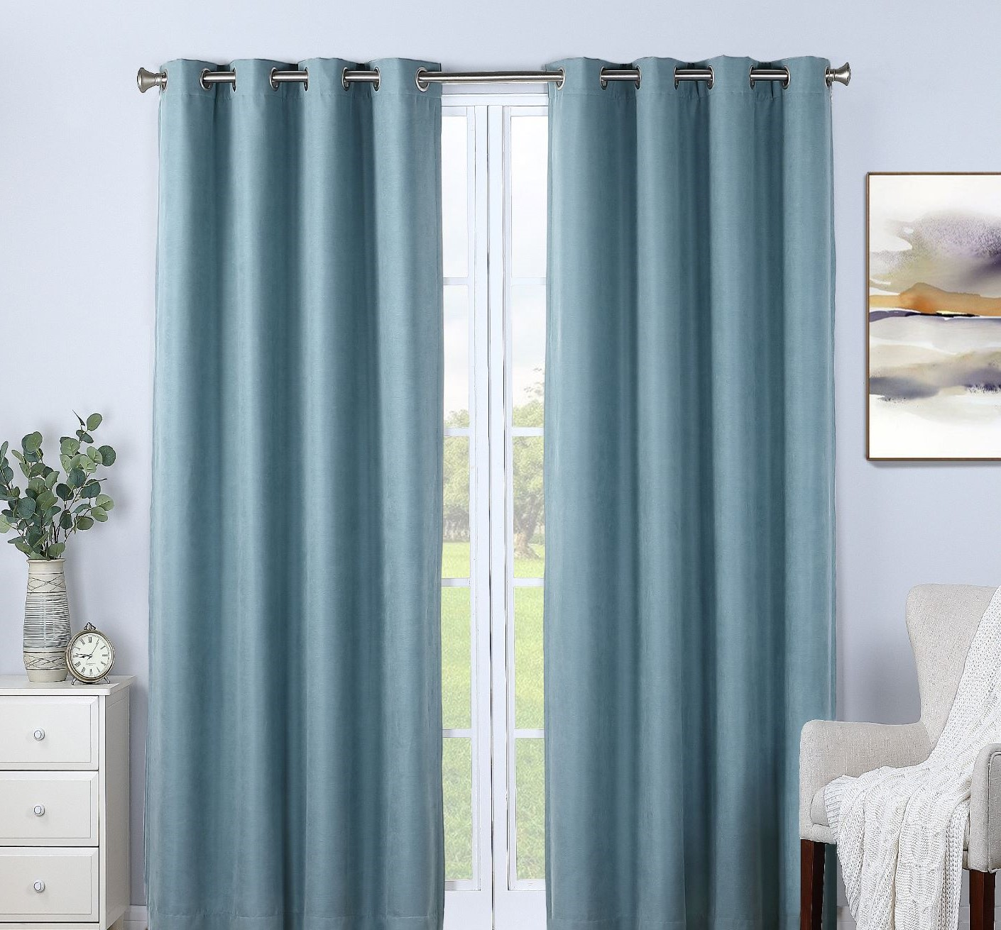 Therapedic® Nantes 100% Blackout Grommet Window Curtain Panel