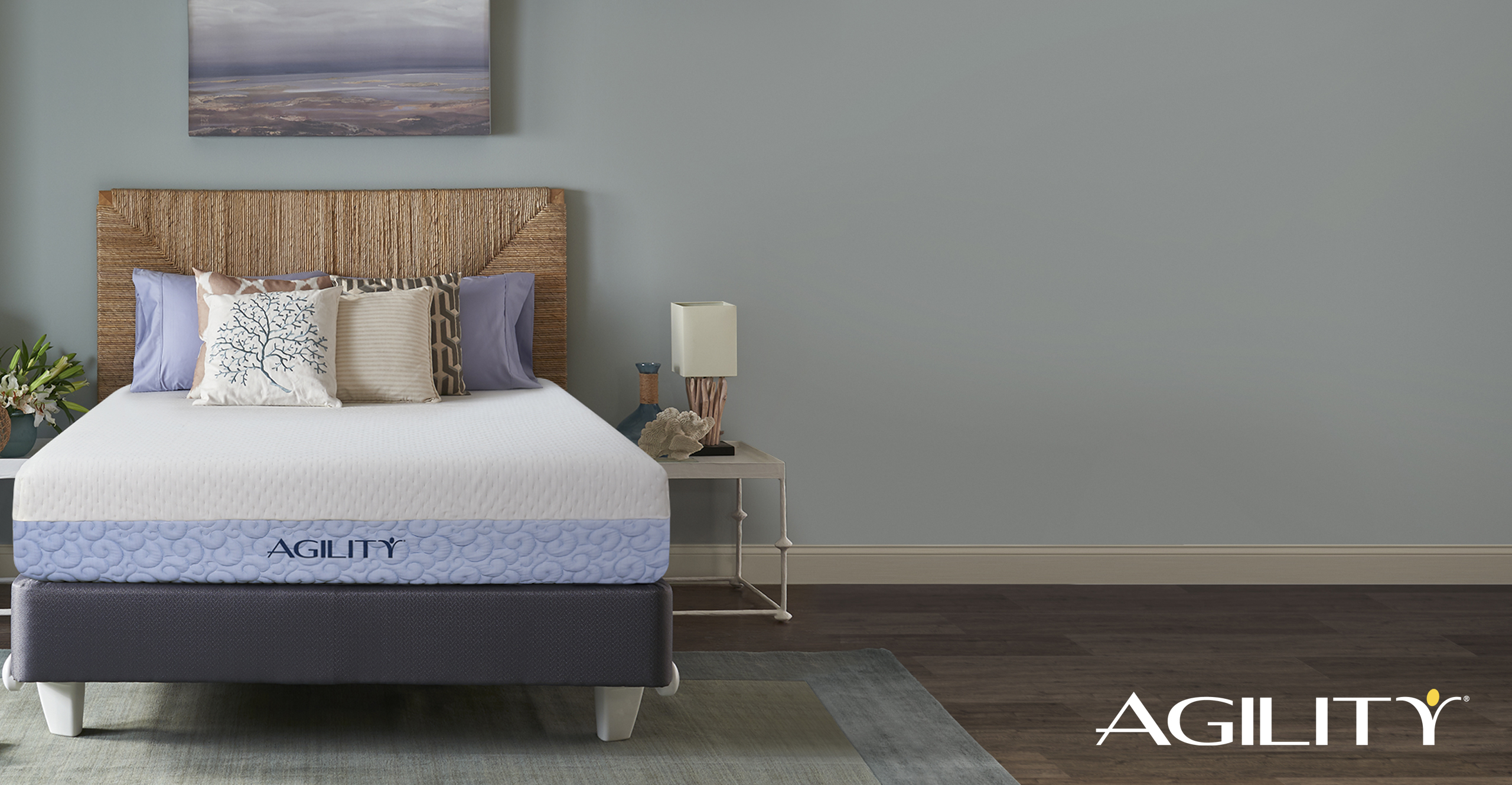 Photo of the Agility mattress in a bedroom setting