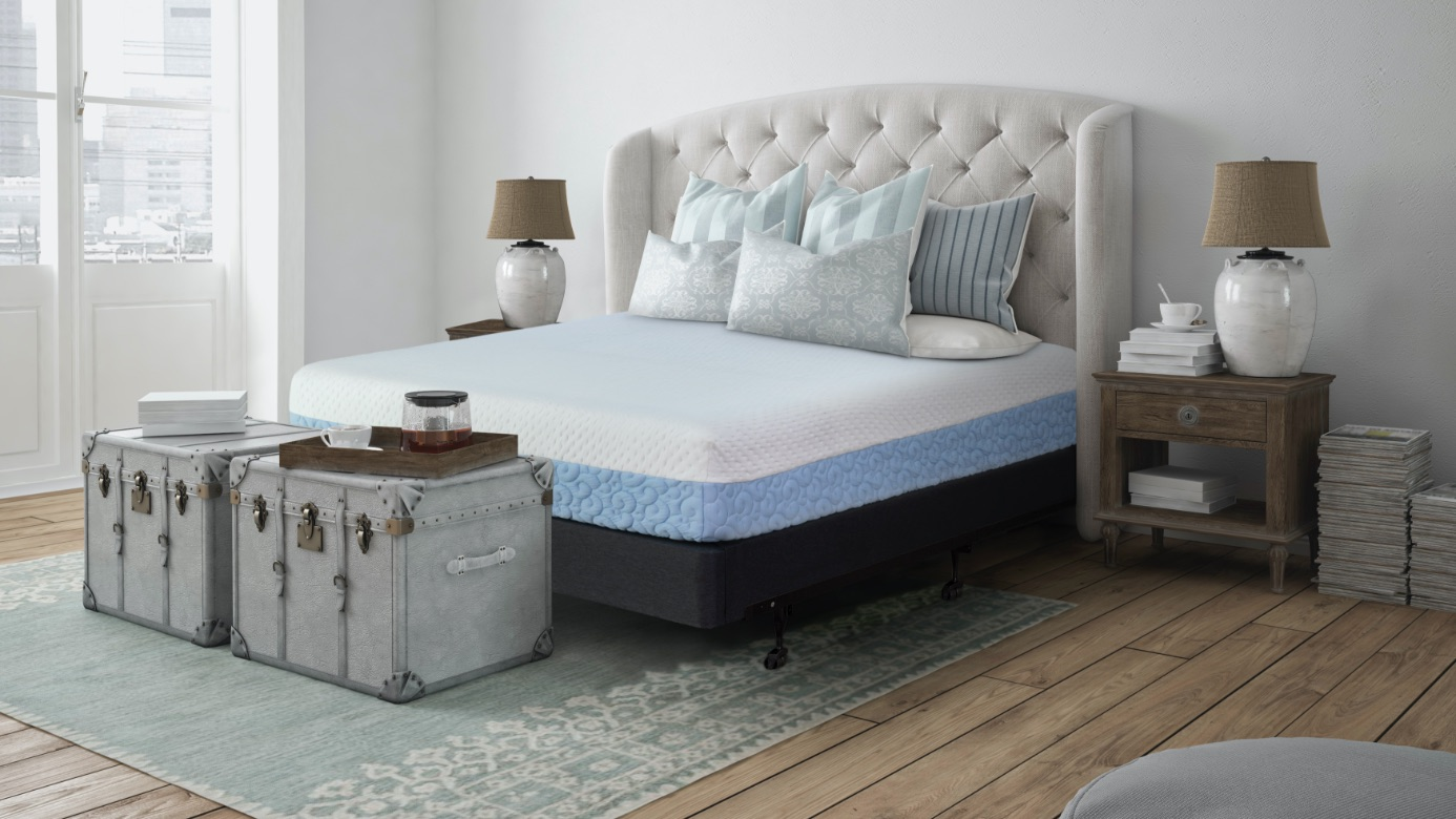 The agility mattress and foundation in a bedroom setting