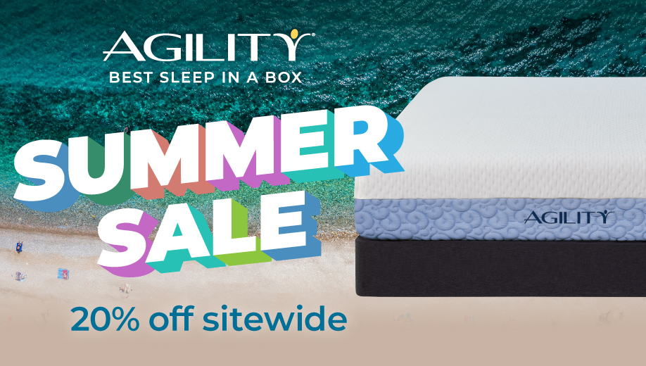 Agility bed in a beachy setting
