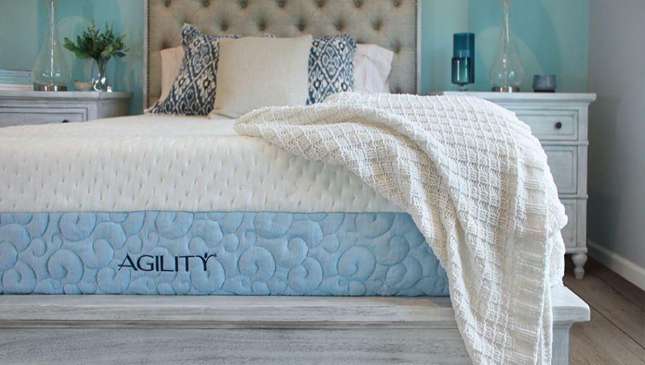 Agility mattress in new bedroom