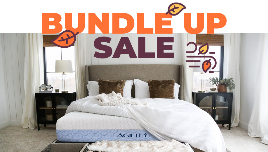 Agility mattress in room setting with a fall theme