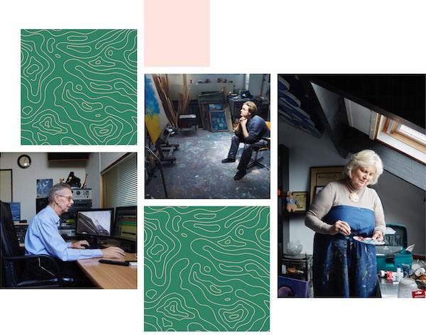 Afbeeldingen van mensen die palliatieve zorg ontvangen
