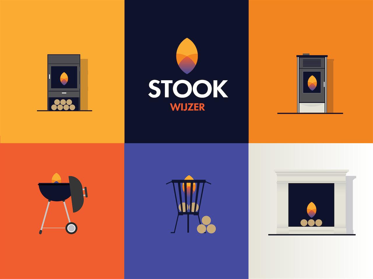 Illustraties van verschillende stook methodes