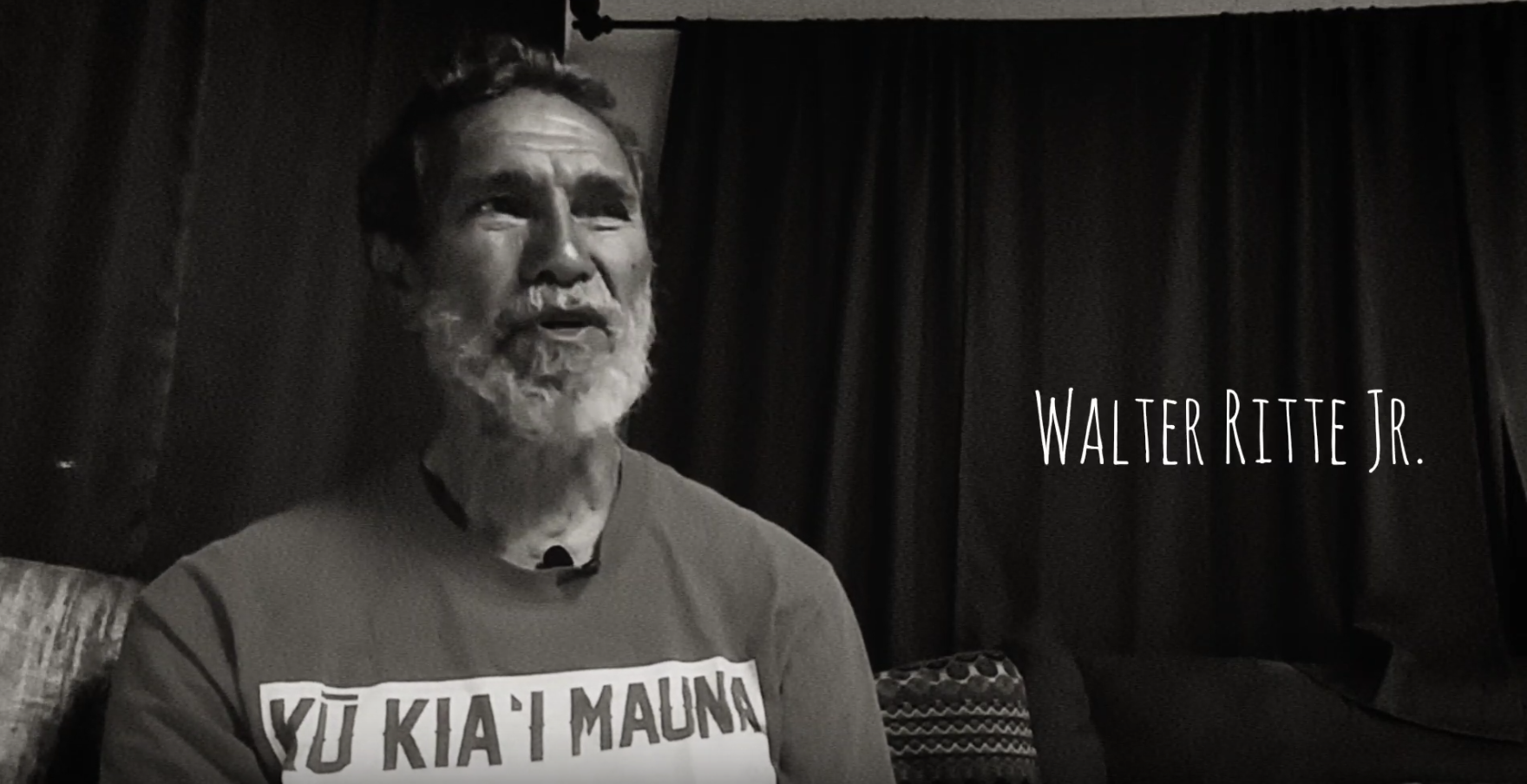 5 minutes with Uncle Walter Ritte Jr. on Mauna Kea