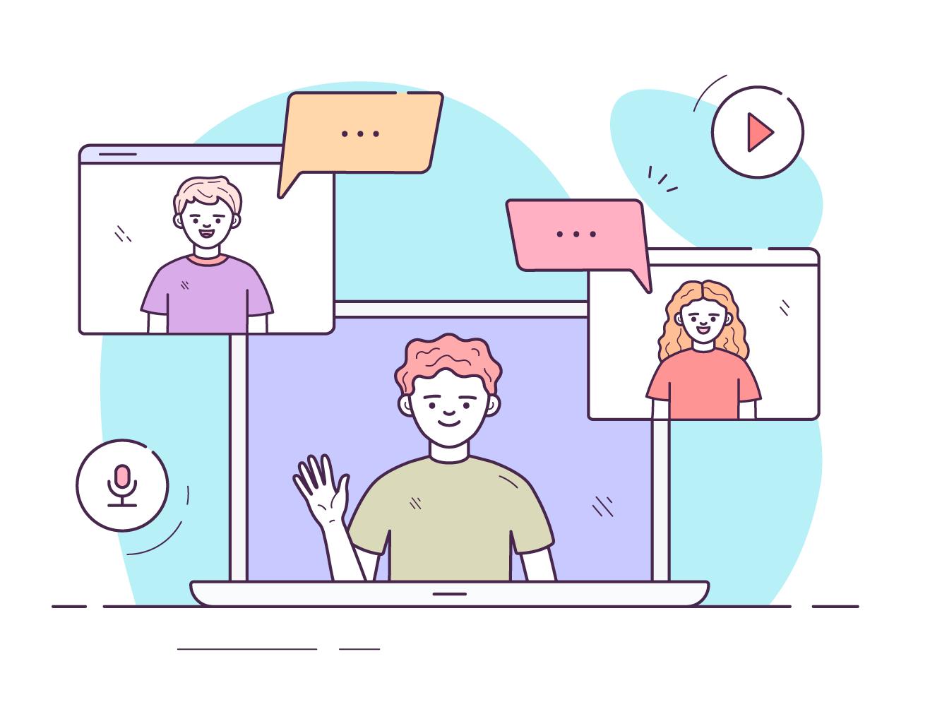 Video chat meetings