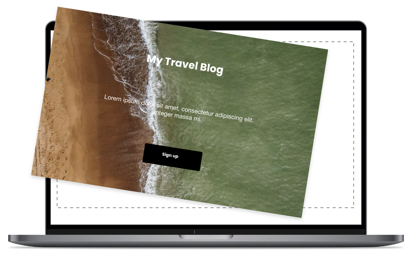 1. Create a landing page