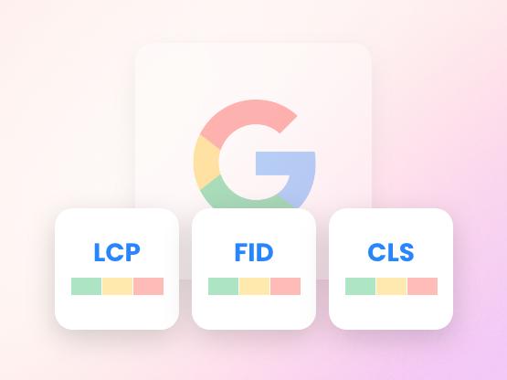 Google's three measurements for core web vitals