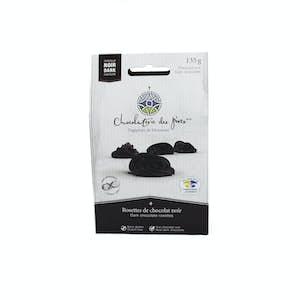 Rosettes of dark chocolate