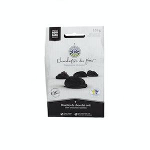 Rosettes de chocolat noir