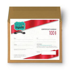 Gift certificate - 100 $