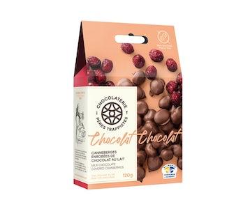 Cranberries, milk chocolate-coated