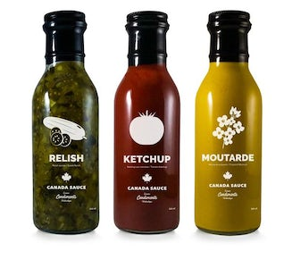 Trio ketchup relish moutarde
