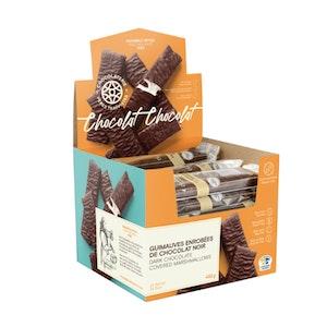 Guimauves enrobées de chocolat noir