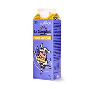 Le Complait 2% sans lactose 1 litre - Nutrinor