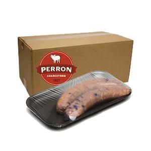22 saucisses bleuets congelées (2 kilos) - Perron Charcuterie