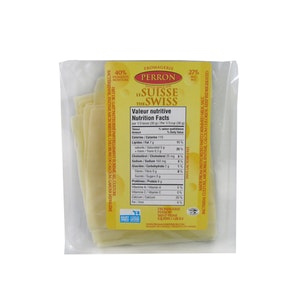 Tranches fromage suisse - 250 g - Fromagerie Perron