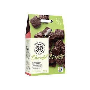 Noix de coco enrobées de chocolat noir