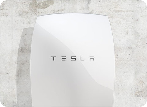 tesla powerwall battery against white background