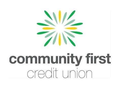community first credit union logo on white background