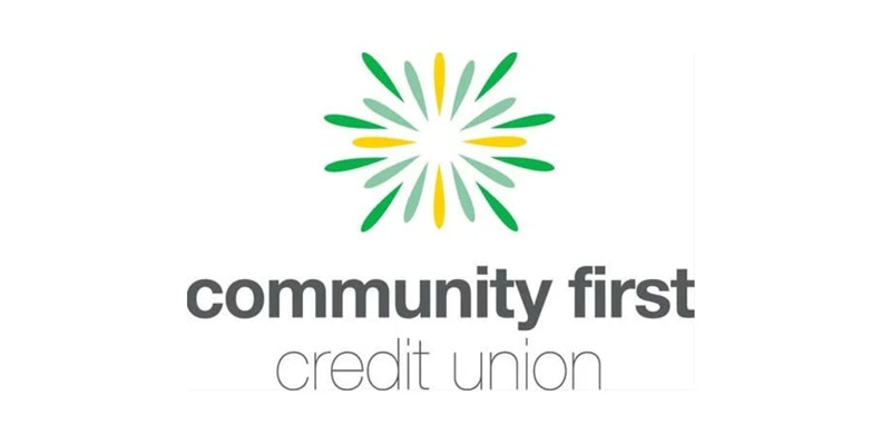 community first credit union logo on white background