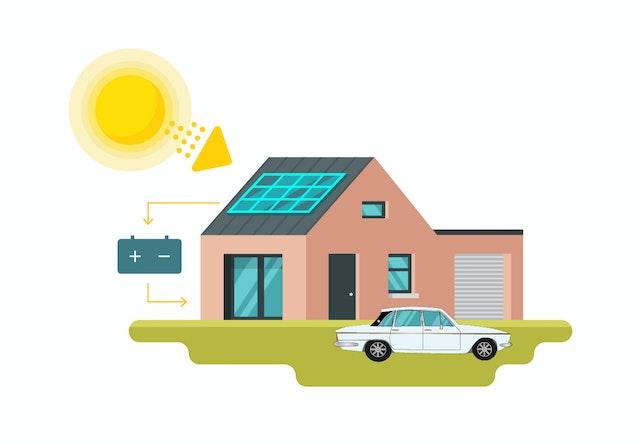 off grid solar power illustration