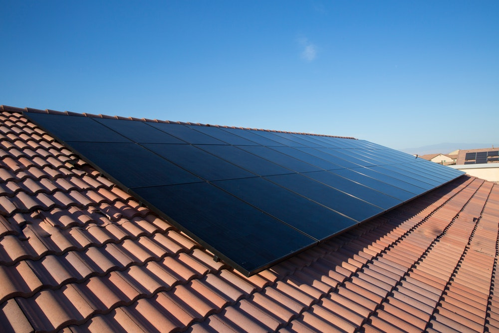 solar panels on Brisbane tiled roof