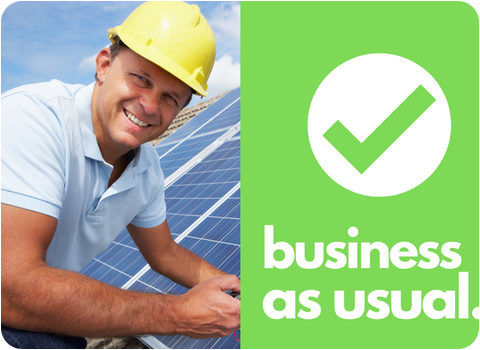business as usual solar installer graphic
